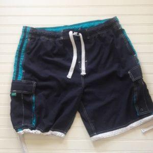 Navy Blue swim cargo shorts